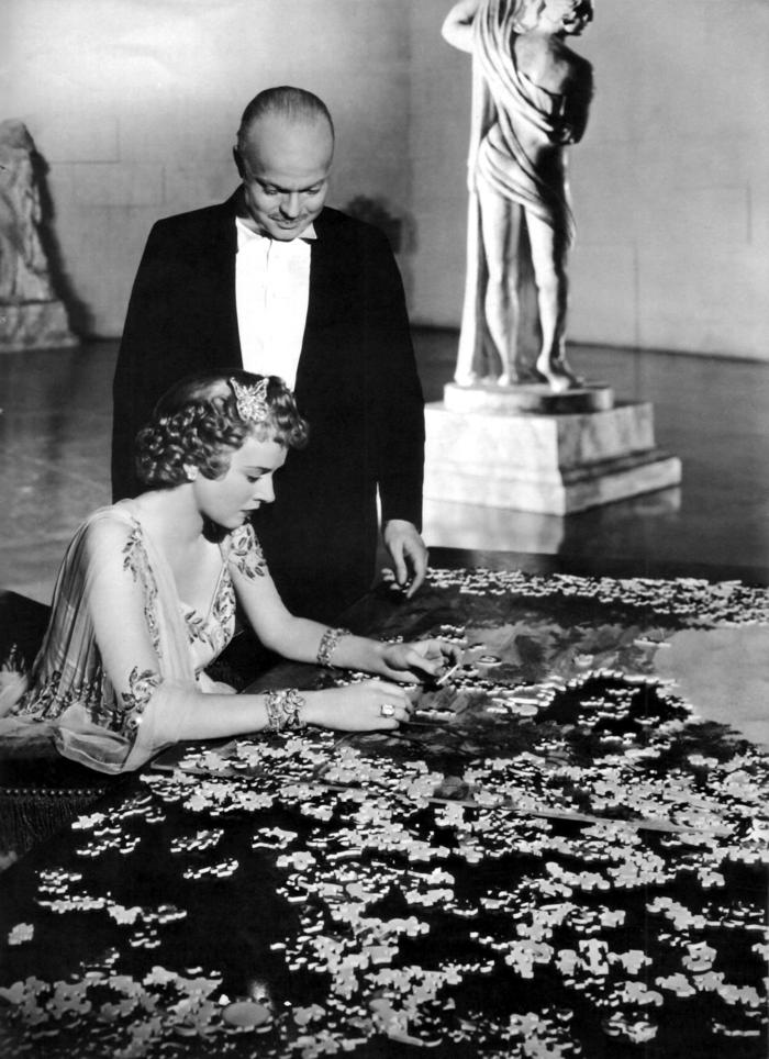 Dorothy Comingore e orson Welles in Citizen Kane