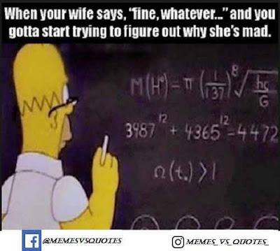 When your wife says