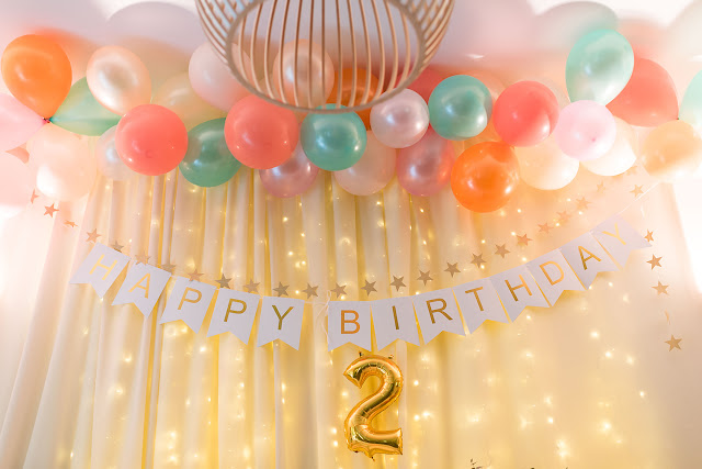 pastel jungle party, balloon backdrop,  birthday  decor, second birthday, light backdrop, golden party