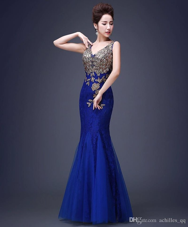 lace bridesmaid evening dress gown
