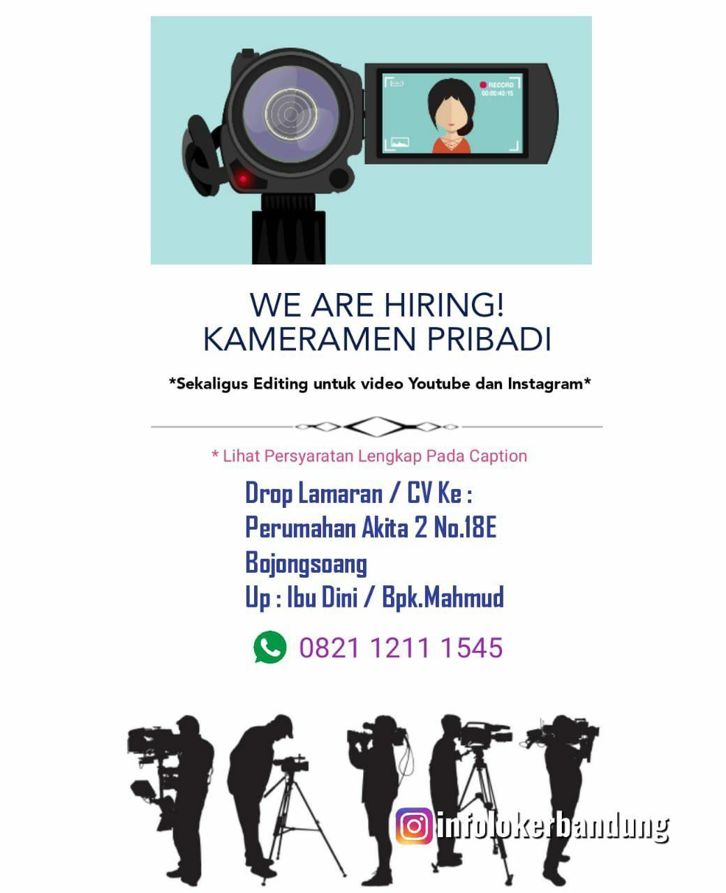 Lowongan Kerja Kameramen Pribadi Rocket Dimsum Bandung Mei 2019