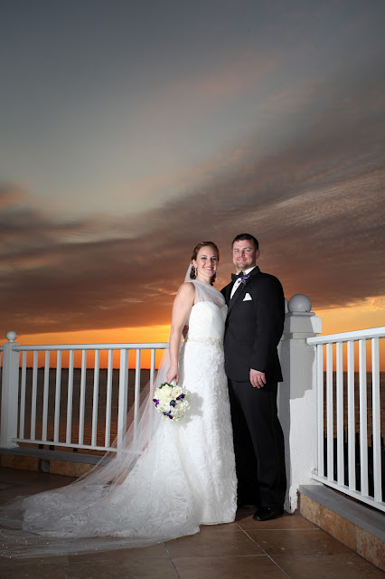 sunset from sanibel harbour marriott wedding