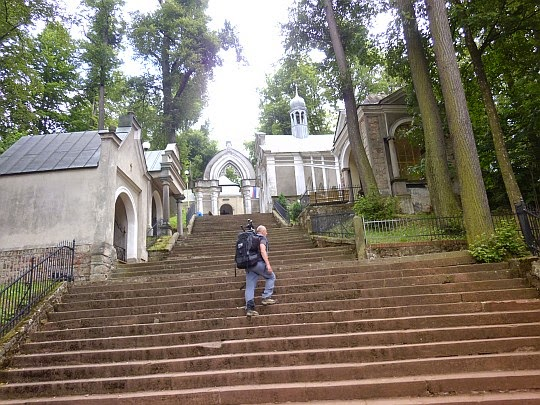 Wielkie schody Wambierzyckiej Kalwarii.
