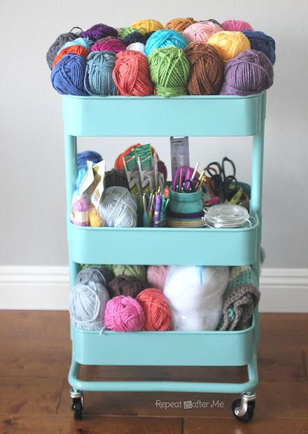 Ikea Raskog Crochet Cart - Repeat Crafter