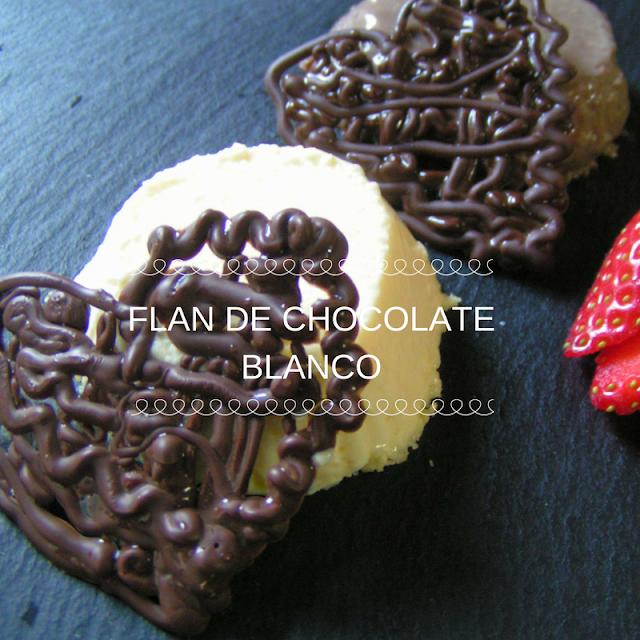 Flan de chocolate blanco - Morrico Fino