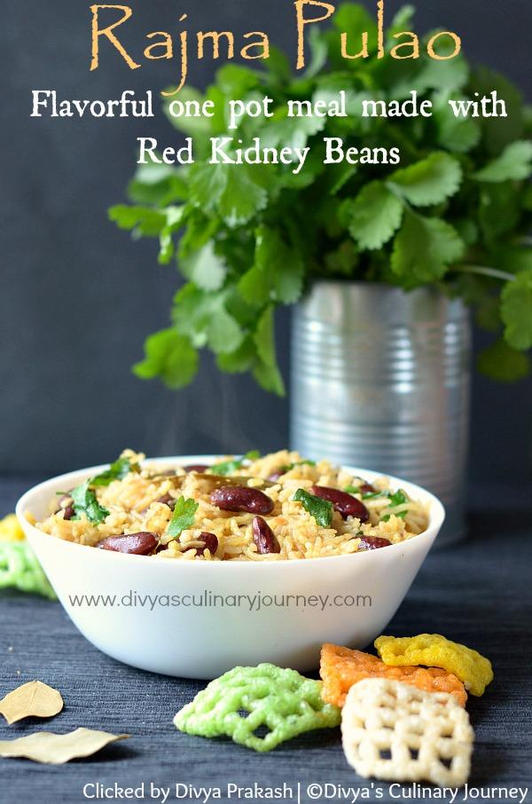 Rajma pulao, Red kidney beans pulao