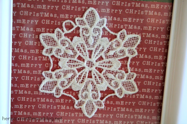 Framed Snowflake Art