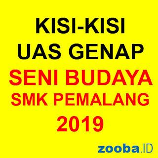 Kisi-Kisi Seni Budaya UAS Genap 2019 SMK Pemalang