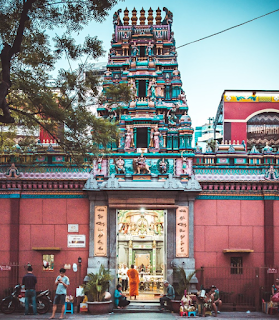 Mariamman Hindu Temple outside view