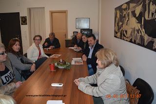 Συνάντηση των εργαζομένων στα Σούπερ μάρκετ Καρυπίδη με τους βουλευτές του ΣΥΡΙΖΑ Πιερίας.
