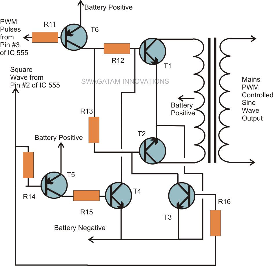 Pure Sine Wave Oscillator Circuit Diagram Engine Control Wiring Generator Square Schematic Electromagnetic Field Vco