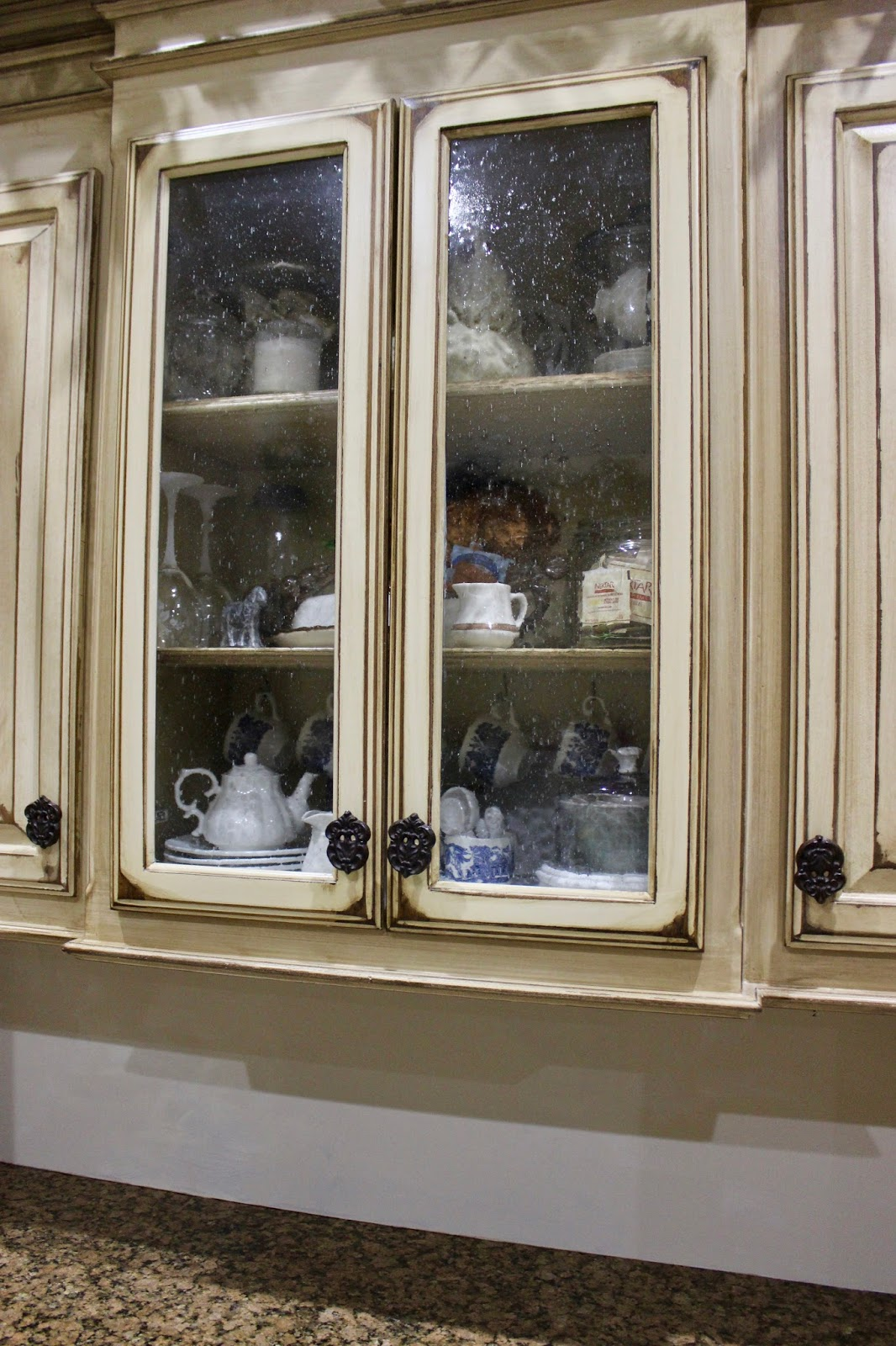 Glass Kitchen Cabinet Doors Near Me At Rivercrest Cottage Glass Doored Kitchen Cabinet