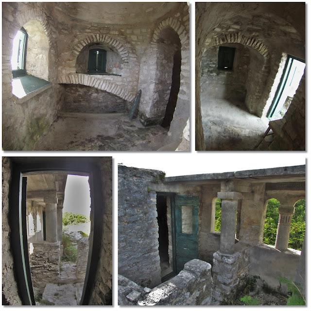 Inside the stone hermitage at Mount Alvernia, Cat Island, Bahamas