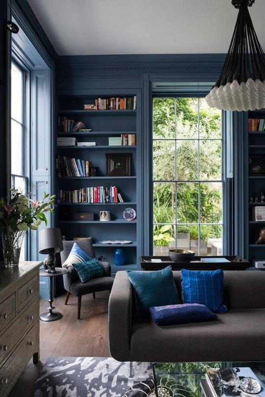 colored bookcases
