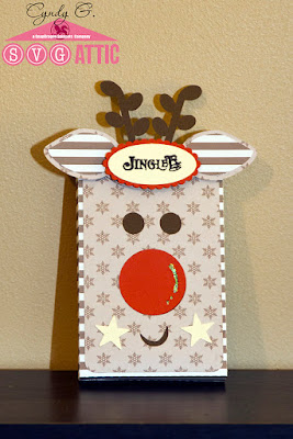Treat box with reindeer face
