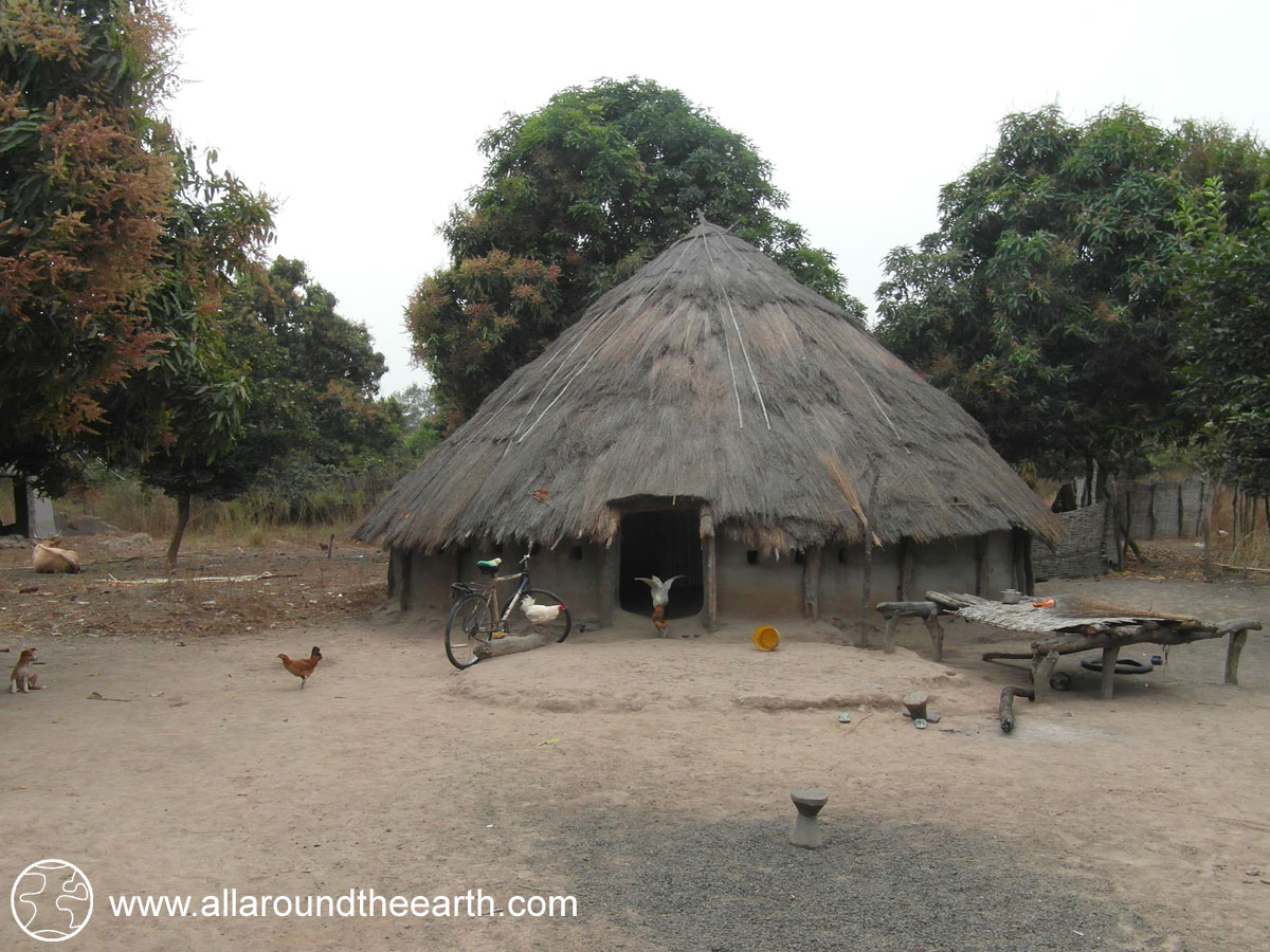 Traditional house in Dalaba village, Guinea Bissau, West Africa