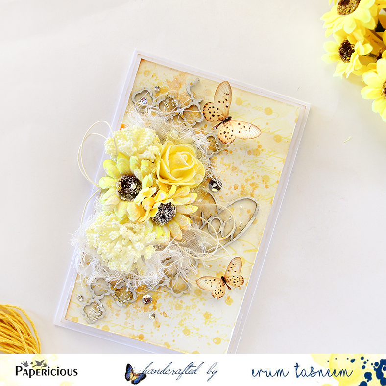 Mixed media card using Papericious Mom to Be paperpack by @pr0digy0