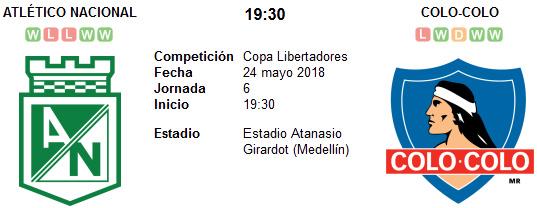 Atlético Nacional vs Colo Colo en VIVO