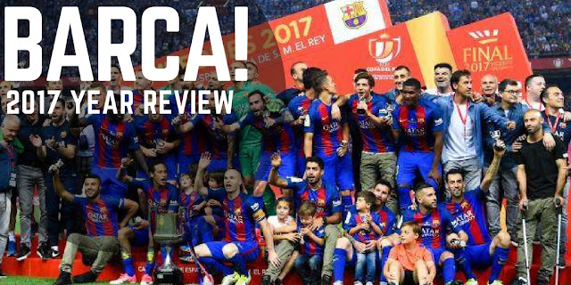 FC Barcelona wrote history by winning Copa Del Rey title for the third consecutive times but failure to land La Liga and Champions League title will mark 2017 as a disappointing season