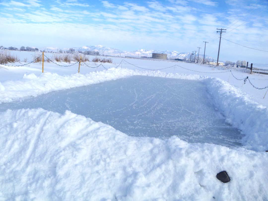 The Writing Garden: My homemade Ice skating Rink 2013 ...