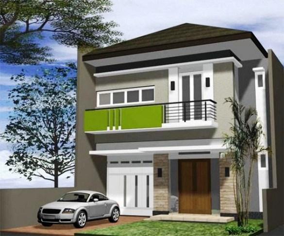 Balkon Rumah Tingkat Minimalis Modern
