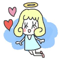 Angel-chan Sticker