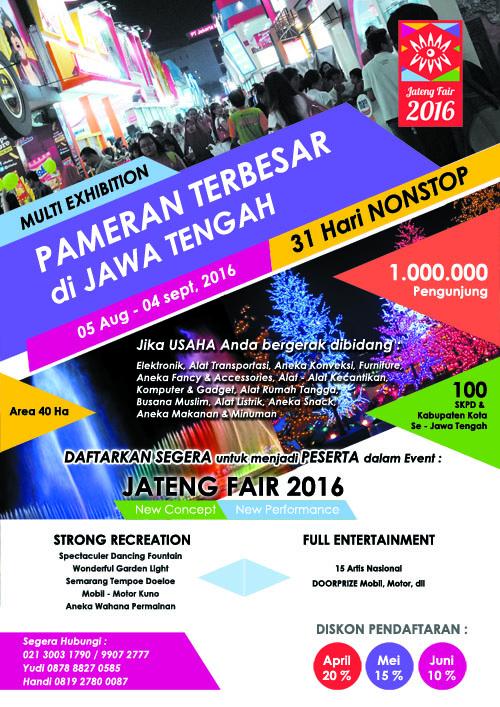 Jateng Fair 2016 - Event, Expo, Bazaar dan Pameran Semarang