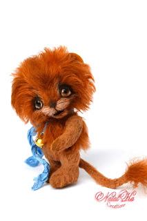 Artist teddy lion, artist lion, teddy bear, handmade bear, lion ooak, mohair, Künstlerlöwe, Teddy Löwe, Künstlerteddys, teddies with charm, NatalKa Creations
