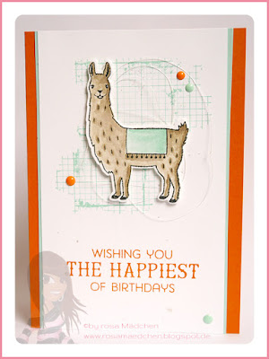 Stampin' Up! rosa Mädchen Kulmbach: Geburtstagskarte mit Birthday Fiesta und Off the Grid