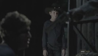 Carl tells his dad to shoot Randall