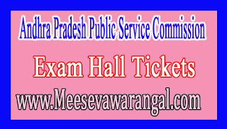 Andhra Pradesh Public Service Commission Assistant Executive Engg Recruitment Screening Test 2016 Hall Tickets