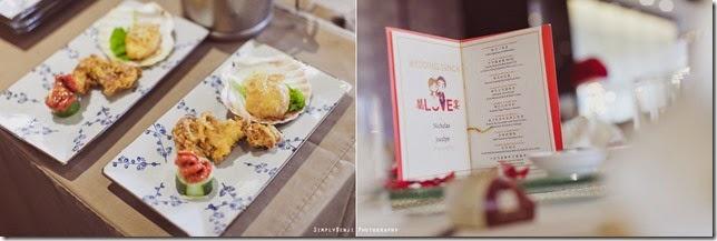 food in individual serving menu