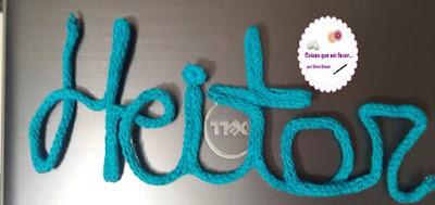Letras do alfabeto em  crochê