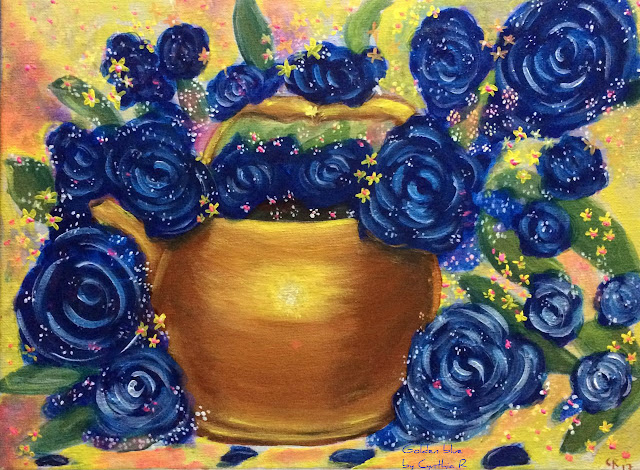 blueroses- blue-art-acrylic-painting- cynthia-costa-rica-arte-don-y-pasion