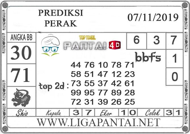 """PREDIKSI TOGEL """"PERAK"""" PANTAI4D 07 NOVEMBER 2019"""