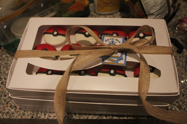 Pokemon party favor: chocolate-covered Pokeballs