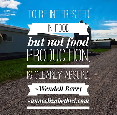 Quote about food production and farming