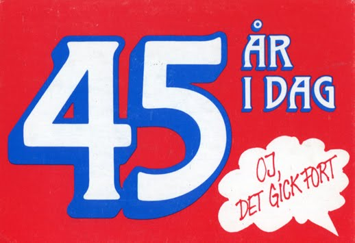 45 års present FEM BILDER: Vykort bonanza! 45 års present