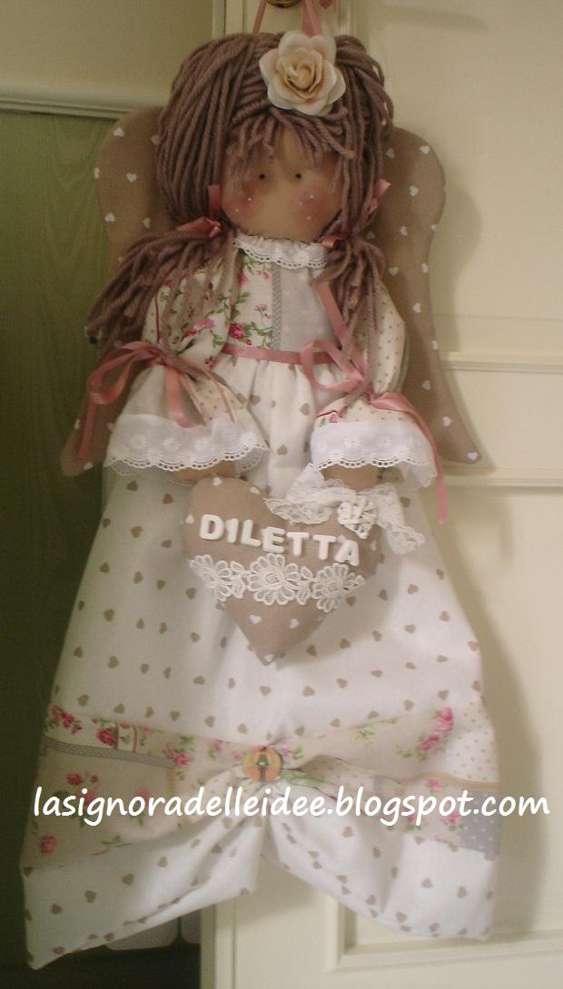 Favoloso La Signora delle Idee: Bambola - angelo porta pigiama o porta  GF66