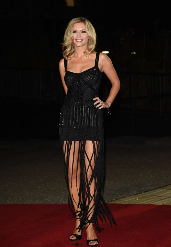 Rachel Riley teases in sexy fringe dress at the GQ Men of the Year Awards 2016