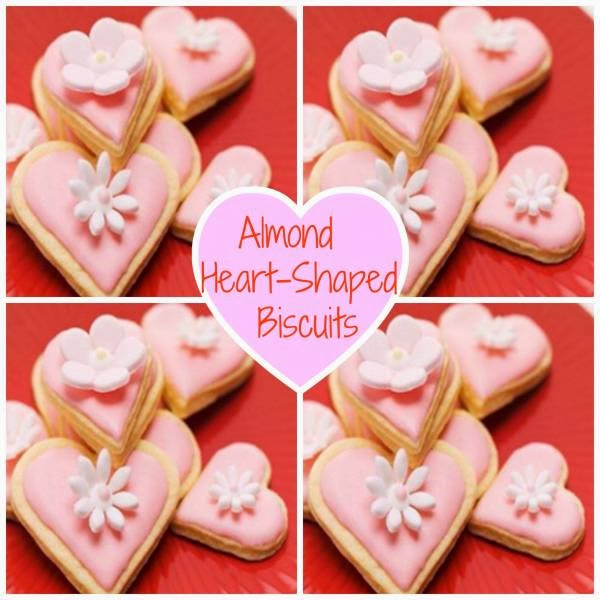Almond Heart-Shaped Biscuits For Your Valentine