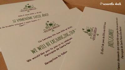 Invitación boda inglés