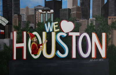 We Love Houston mural at Saint Arnold