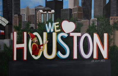 We Love Houston mural at Saint Arnold