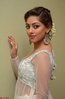 Anu Emmanuel in a Transparent White Choli Cream Ghagra Stunning Pics 048.JPG