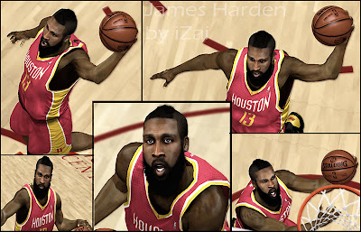 NBA 2K13 James Harden Cyberface Patch