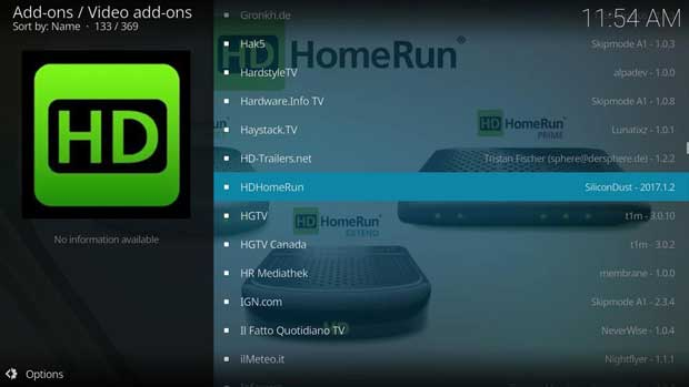 cara instal add-on kodi resmi 3