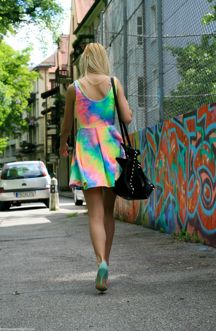 dip dye dress on blogger