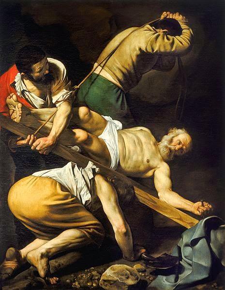A Crucificação de São Pedro - Caravaggio e suas principais pinturas ~ O gênio rebelde