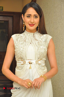 Actress Pragya Jaiswal Stills in Beautiful White Dress at turodu Audio Launch  0003.JPG